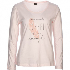 """Koszulka piżamowa """"Cozy World"""" w kolorze jasnoróżowym. Szare koszule nocne i halki marki Esprit. W wyprzedaży za 58,95 zł."""