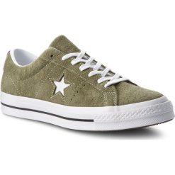 Tenisówki CONVERSE - One Star Ox 161576C Field Surplus/White/White. Zielone tenisówki męskie marki Converse, z gumy. W wyprzedaży za 259,00 zł.
