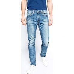 Levi's - Jeansy 511 Slim Harbour. Brązowe jeansy męskie regular Levi's®, z aplikacjami, z bawełny. W wyprzedaży za 229,90 zł.