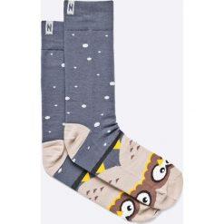 Nanushki - Skarpety Night Owl. Białe skarpetki męskie marki Nanushki, z bawełny. Za 24,90 zł.