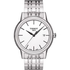 PROMOCJA ZEGAREK TISSOT T-CLASSIC T085.410.11.011.00. Białe zegarki męskie TISSOT, ze stali. W wyprzedaży za 1051,59 zł.