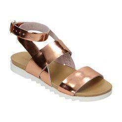 Sandały damskie: Skórzane sandały w kolorze jasnoróżowym