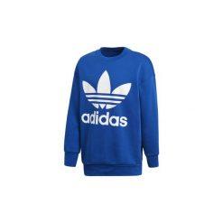 Bluzy adidas  Bluza oversize z zaokrąglonym dekoltem Trefoil. Białe bluzy męskie rozpinane marki Adidas, m. Za 329,00 zł.