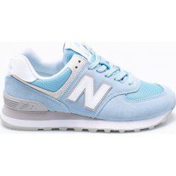 New Balance - Buty WL574ESB. Szare buty sportowe damskie New Balance, z materiału. W wyprzedaży za 299,90 zł.