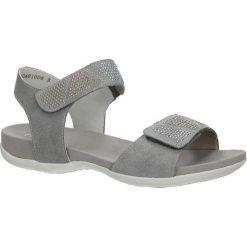 Szare sandały z nitami na rzep Rieker K2269-42. Czarne sandały damskie marki Rieker, z materiału. Za 228,99 zł.