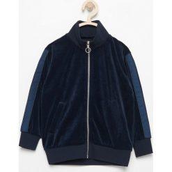 Odzież chłopięca: Aksamitna bluza - Granatowy