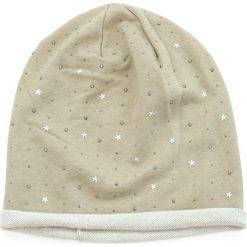 Czapka damska Beanie w błyskotki beżowa. Brązowe czapki zimowe damskie Art of Polo. Za 32,73 zł.