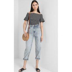 T-shirty damskie: Whistles STRIPE FRILL DETAIL BARDOT Tshirt z nadrukiem black
