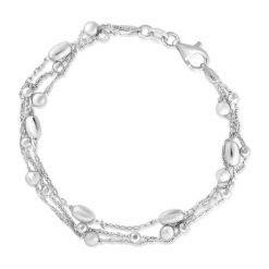 Bransoletki damskie na nogę: Wyjątkowa Srebrna Bransoletka - srebro 925
