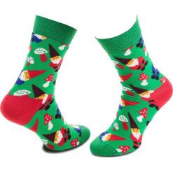 Skarpety Wysokie Unisex HAPPY SOCKS - GGN01-7000 Kolorowy Zielony. Zielone skarpetki damskie Happy Socks, w kolorowe wzory, z bawełny. Za 34,90 zł.