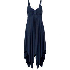 Sukienki: Sukienka z asymetryczną linią dołu bonprix ciemnoniebieski
