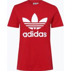 Adidas Originals - T-shirt damski, czerwony. Szare t-shirty damskie marki adidas Originals, na co dzień, z nadrukiem, z bawełny, casualowe, z okrągłym kołnierzem, proste. Za 139,95 zł.