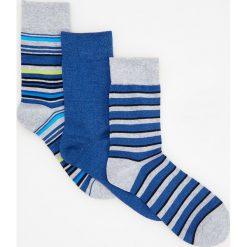 Kapcie męskie: 3 pack skarpetek – Niebieski