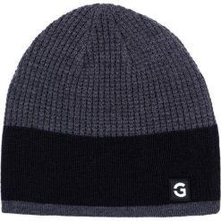 Czapka CZP0000014. Brązowe czapki zimowe męskie Giacomo Conti, z tkaniny. Za 89,00 zł.
