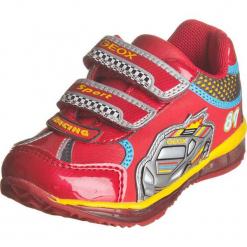 """Sneakersy """"Todo"""" w kolorze czerwonym. Niebieskie trampki chłopięce marki geox kids, z gumy. W wyprzedaży za 112,95 zł."""