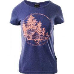 T-shirty damskie: Hi-tec T-SHIRT damski HOLZ ASTRAL AURA MELANGE / FRESH SALMON  granatowo pomarańczowa r. XS