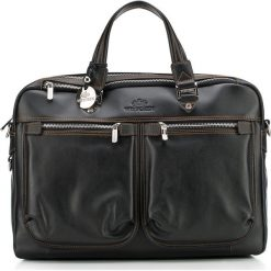 Torba na laptopa 20-3-046-1. Czarne torby na laptopa marki Wittchen, w paski, zdobione. Za 2199,00 zł.