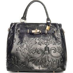 Torebki klasyczne damskie: Skórzana torebka w kolorze czarnym – 40 x 21 x 31 cm