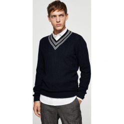 Swetry klasyczne męskie: Mango Man – Sweter Owen