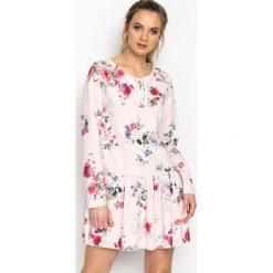 Różowo-Bordowa Sukienka Baylor. Czerwone sukienki mini marki Born2be, s, z elastanu. Za 74,99 zł.
