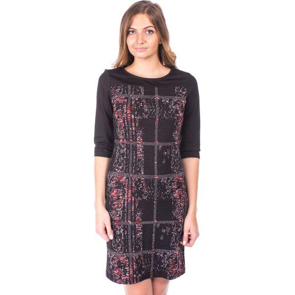 1263a93d8b SUKIENKA SHINY CHECK QUIOSQUE - Czarne sukienki damskie marki ...
