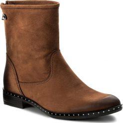 Botki CARINII - B4190 793-000-PSK-C63. Brązowe buty zimowe damskie Carinii, z materiału. W wyprzedaży za 229,00 zł.