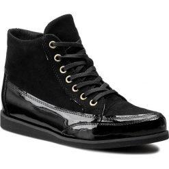 Botki OLEKSY - 2104 542/147 Czarny Lakier/Czarny Zamsz. Szare buty zimowe damskie marki Oleksy, ze skóry. W wyprzedaży za 249,00 zł.