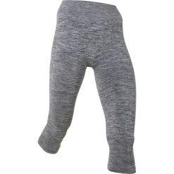 Legginsy sportowe 3/4, bezszwowe bonprix szary melanż. Szare legginsy we wzory marki bonprix, z materiału. Za 37,99 zł.