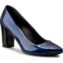 Półbuty KABAŁA - 132-01-258-00-01-05 Granatowy. Niebieskie półbuty damskie lakierowane marki Kabała, z lakierowanej skóry, na obcasie. W wyprzedaży za 229,00 zł.