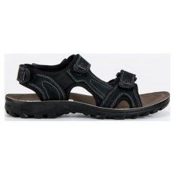 Sandały męskie: HASBY skórzane sandały męskie czarne