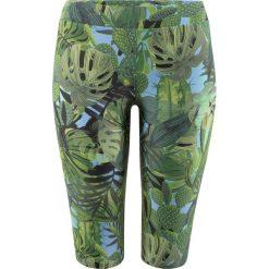 Legginsy kąpielowe bonprix zielony z nadrukiem. Zielone legginsy we wzory bonprix. Za 59,99 zł.