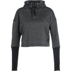 Bluzy rozpinane damskie: Skins WIRELESS Bluza z kapturem black marle