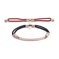 Biżuteria i zegarki damskie: Zestaw: bransoletka w kolorze różowego złota + wymienny element (2 szt)