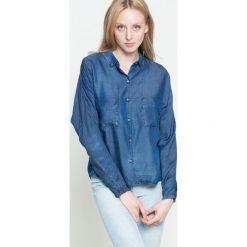 Wrangler - Koszula. Szare koszule damskie marki Wrangler, m, z lyocellu, casualowe, z klasycznym kołnierzykiem, z długim rękawem. W wyprzedaży za 99,90 zł.