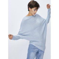 Medicine - Sweter Basic. Szare swetry klasyczne damskie marki MEDICINE, l, z dzianiny, z asymetrycznym kołnierzem. W wyprzedaży za 49,90 zł.