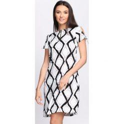 Sukienki: Czarno-Biała Sukienka Chicory