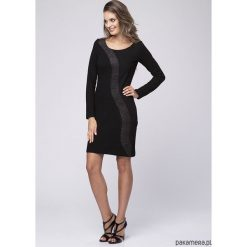 Sukienka wizytowa Betty Look 727. Czarne sukienki asymetryczne Pakamera, klasyczne, z asymetrycznym kołnierzem, midi. Za 249,00 zł.
