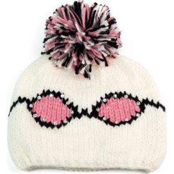 Czapka  damska okularnicy i pompon biała (cz2608). Białe czapki zimowe damskie Art of Polo. Za 36,52 zł.