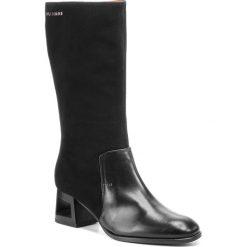 Kozaki SOLO FEMME - 14313-32-I12/C78-12-00  Czarny. Czarne buty zimowe damskie Solo Femme, ze skóry, na obcasie. Za 549,00 zł.