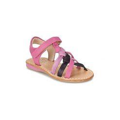 Sandały Dziecko  Noel  STRASS. Czerwone sandały dziewczęce marki Born2be, z materiału, z otwartym noskiem, na zamek. Za 247,20 zł.