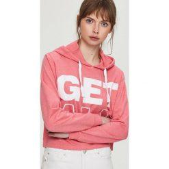 Bluza z kapturem - Różowy. Czerwone bluzy z kapturem damskie marki Reserved, l. Za 49,99 zł.