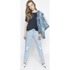 Diesel - Jeansy Neekhol. Niebieskie proste jeansy damskie Diesel. W wyprzedaży za 449,90 zł.