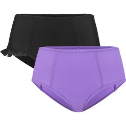Figi bikini shape (2 pary) bonprix czarny-lila. Białe bikini marki Reserved, m. Za 89,98 zł.