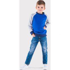 Bluzy chłopięce rozpinane: BLUZA DZIECIĘCA BEZ KAPTURA KB003 - NIEBIESKA