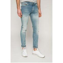 Tommy Jeans - Jeansy Simon. Niebieskie jeansy męskie skinny marki Tommy Jeans, z bawełny. W wyprzedaży za 299,90 zł.