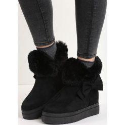 Buty zimowe damskie: Czarne Śniegowce Warm Up