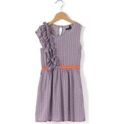 Sukienki dziewczęce z falbanami: Wzorzysta sukienka bez rękawów 3 – 14 lat