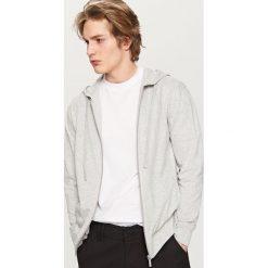 Rozpinana bluza z kapturem - Jasny szar. Czarne bluzy męskie rozpinane marki Reserved, l, z kapturem. Za 79,99 zł.