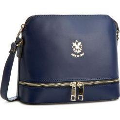 Torebka CREOLE - K10269 Granat. Niebieskie listonoszki damskie Creole, ze skóry, na ramię. W wyprzedaży za 139,00 zł.