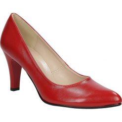 Czółenka na słupku Casu 1693. Brązowe buty ślubne damskie Casu, na słupku. Za 89,99 zł.